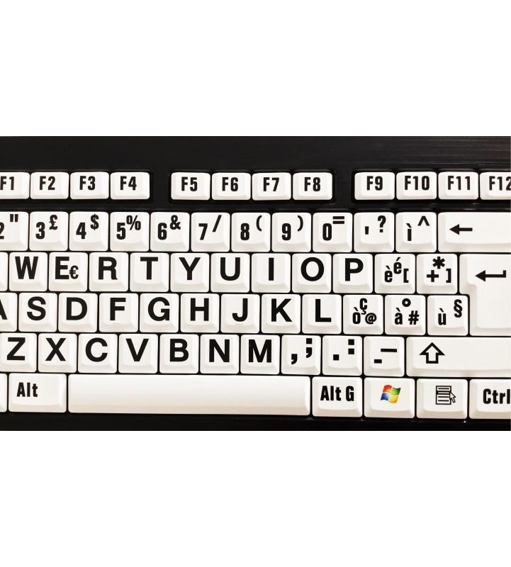 LargePrint Black on White - PC Nero Slim Line Keyboard