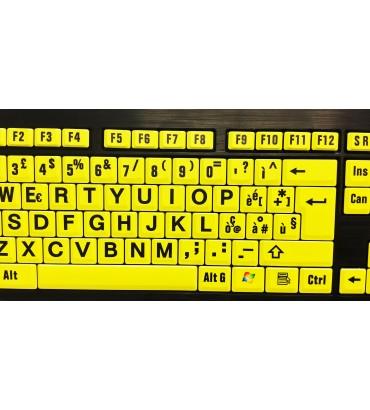 Tastiera XL G/N alto contrasto - Layout ITA