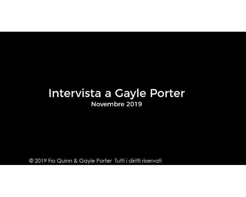 Gayle Porter intervistata da Fio Quinn - PODD in Italia